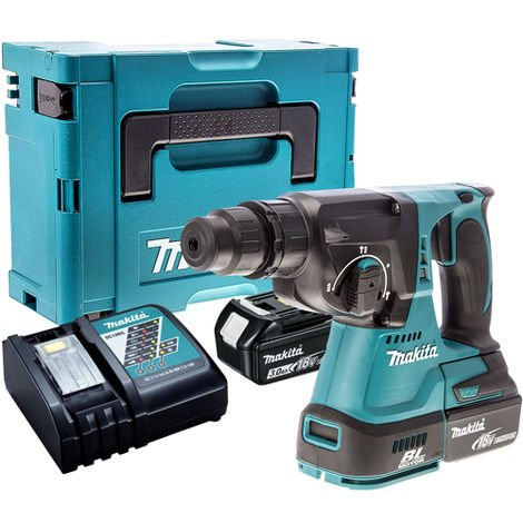 Makita DHR242Z 18V Brushless SDS+ Hammer Drill with 2 x 3.0Ah Battery & Charger in Case