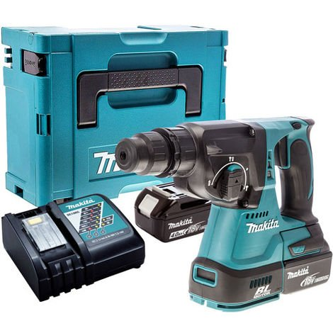 Makita DHR242Z 18V Brushless SDS+ Hammer Drill with 2 x 4.0Ah Batteries & Charger in Case
