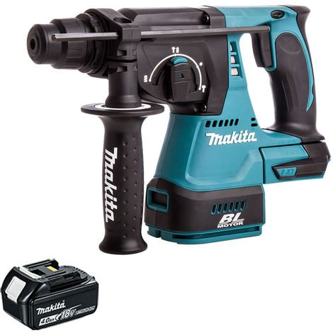 Makita DHR242Z 18V SDS+ Brushless Hammer Drill With 1 x 4.0Ah Battery