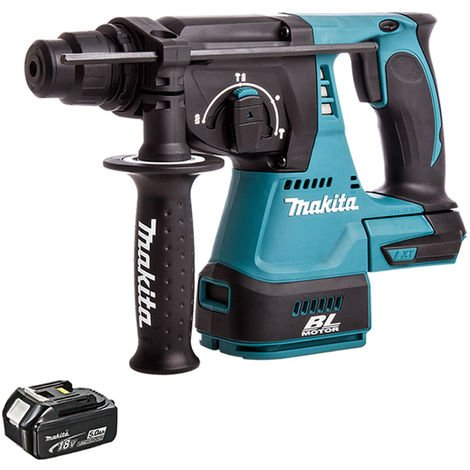 Makita DHR242Z 18V SDS+ Brushless Hammer Drill With 1 x 5.0Ah Battery
