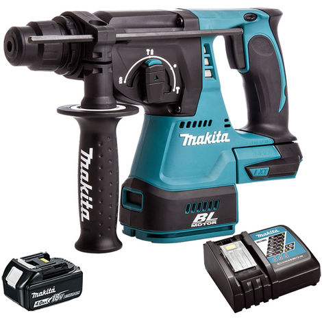Makita DHR242Z 18V SDS Brushless Hammer With 1 x 4Ah Battery & Charger