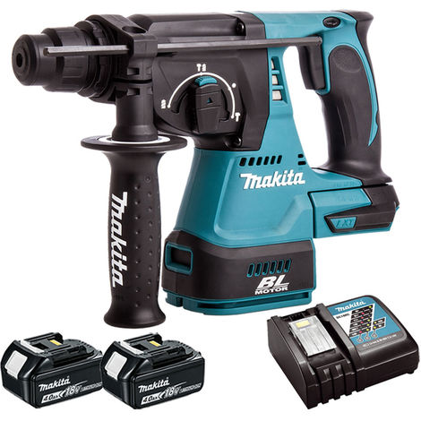 Makita DHR242Z 18V SDS Brushless Hammer With 2 x 4Ah Battery & Charger