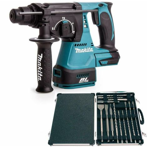 Makita DHR242Z 18V SDS+ Brushless Rotary Hammer Drill With Makita D-21200 Set