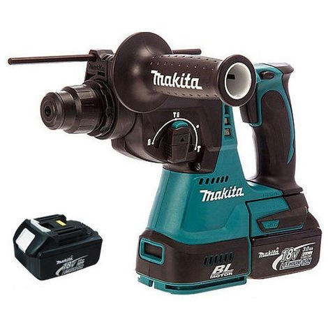 Makita DHR242Z 18V SDS Brushless Rotary Hammer with 2 x 3.0Ah Batteries