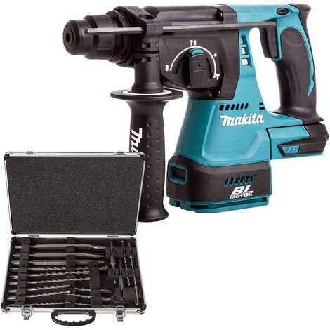 Makita DHR242Z 18V SDS+ Rotary Hammer with D-21200 17 Piece Accessories Set:18V