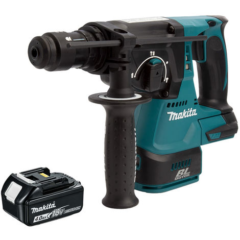 Makita DHR243 18v SDS+ Brushless Rotary Hammer Drill 4.0Ah Battery:18V