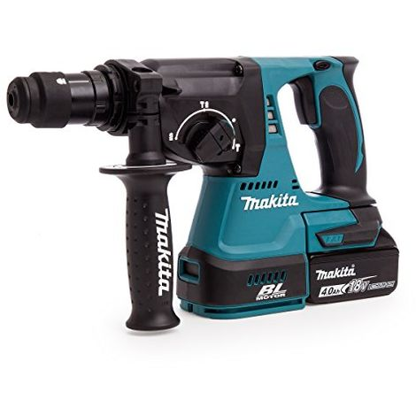 Makita Dhr243rmj 18 V Li-ion Lxt Brushless Rotary Hammer Complete With 2 X 4.0 Ah Li-ion Batteries And Charger In A Makpac Case