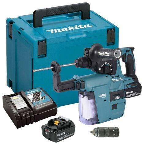 Makita DHR243RTWJ 18v LXT Brushless Rotary Hammer Drill + Chuck + Extractor 5ah