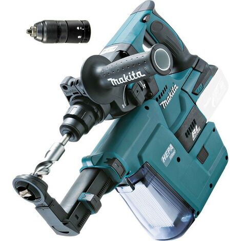Makita DHR243Z 18v LXT Brushless Rotary Hammer Drill + DX02 Dust Extractor Unit