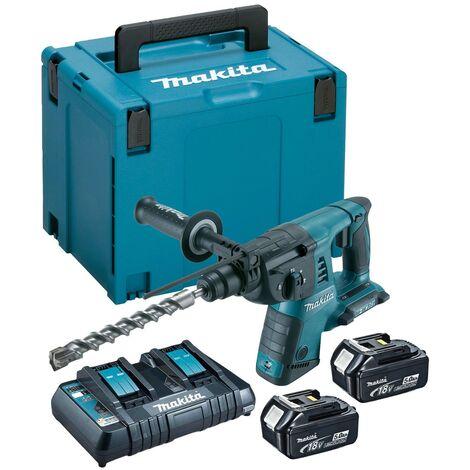 Makita DHR263PT2 36v / 18v Twin LXT Twin SDS+ Plus Hammer Drill - 2 x 5.0ah