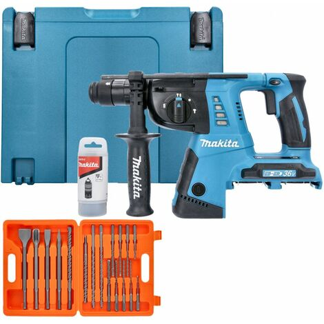 Makita DHR264ZJ 18V Twin SDS+ Hammer Drill in Makpac With 17 Piece SDS Drill Bit