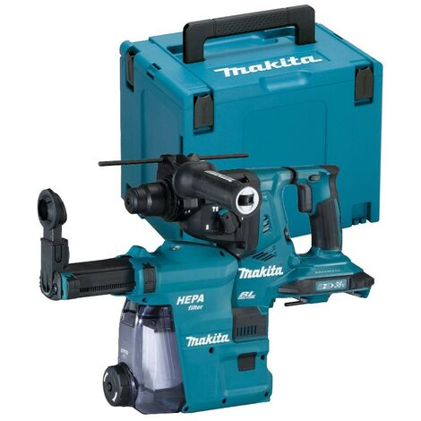Makita DHR280ZJ 36v / 18v LXT Twin SDS Brushless Hammer Drill AVT Dust Extractor