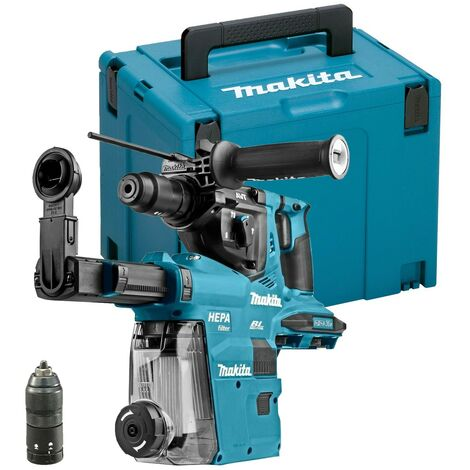 Makita DHR281ZJ 36v 18v LXT Twin SDS Brushless Hammer Drill AVT + Dust Extractor