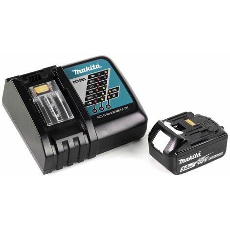 Makita DHS 660 RT1J Scie circulaire sans fil 165 mm 18V + 1x Batterie 5,0Ah + Chargeur + Coffret de transport