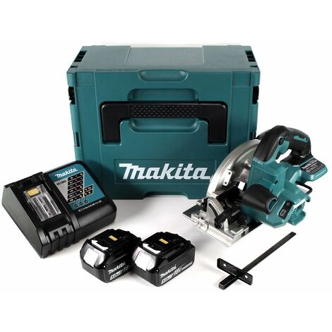 Makita DHS 660 RTJ Scie circulaire sans fil 165 mm 18V + 2x Batteries 5,0Ah + Chargeur + Coffret de transport