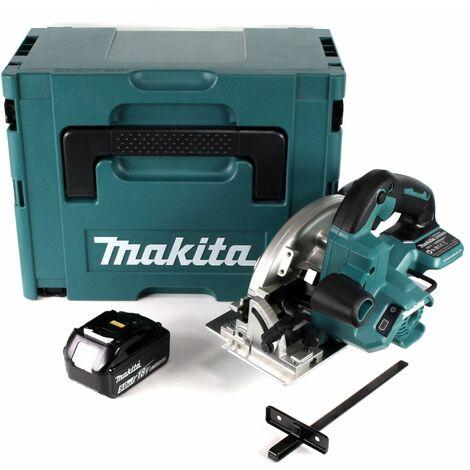 Makita DHS 660 T1J Scie circulaire sans fil 165 mm 18V + 1x Batterie 5,0Ah + Coffret de transport - sans chargeur