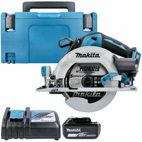 Makita DHS680 18V Brushless Circular Saw With 1 x 5.0Ah Battery, Charger, Case & Inlay