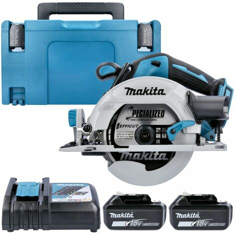 Makita DHS680 18V Brushless Circular Saw With 2 x 6.0Ah Batteries, Charger & Case