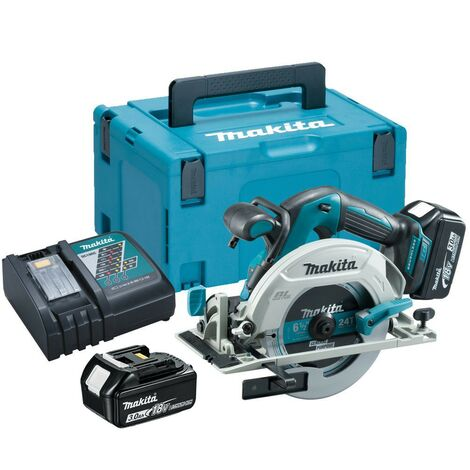 Makita DHS680RFJ 18v Lithium Brushless Circular Saw 165mm - 2 x 3.0ah Batteries