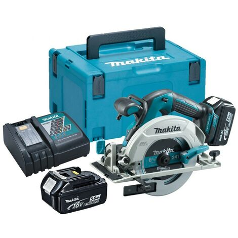 Makita DHS680RTJ 18v Lithium Brushless Circular Saw 165mm - 2 x 5.0ah Batteries