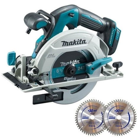 Makita DHS680Z 18V 165mm Brushless Circular Saw With 48T 2 x Blades
