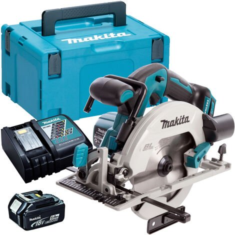 Makita DHS680Z 18V Brushless 165mm Circular Saw with 1 x 5.0Ah Battery & Charger in Case:18V