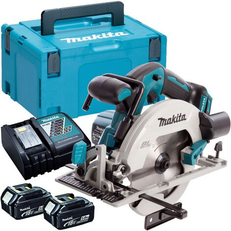 """main image of """"Makita DHS680Z 18V Brushless 165mm Circular Saw with 2 x 5.0Ah Batteries & Charger in Case:18V"""""""
