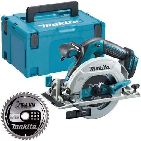 Makita DHS680Z 18V Brushless Circular Saw + B-09248 165mm Blade + Case + Inlay