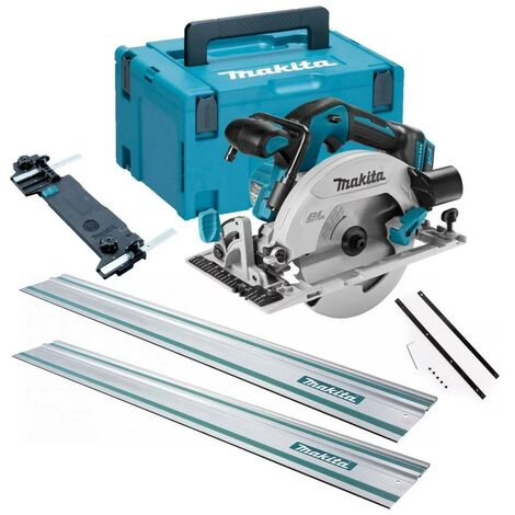 Makita DHS680Z 18v Lithium Brushless Circular Saw 165mm Bare MakPac 2x 1.5m Rail