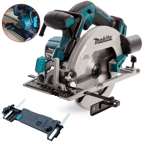 Makita DHS680Z 18v Lithium Brushless Circular Saw 165mm + Guide Rail Adaptor