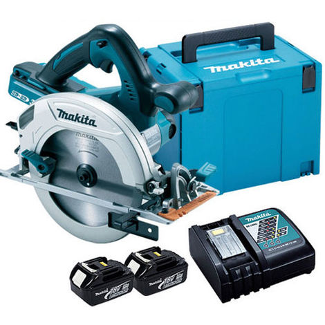 Makita DHS710 18V/36V 190mm Circular Saw with 2 x 3.0Ah Batteries & Charger in Case:18V