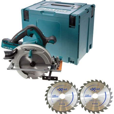 Makita DHS710Z Twin 18V 190mm Circular Saw Body with 2 x Blades in Mak Case:18V