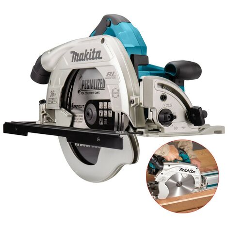 "Makita DHS900Z Twin 18v 36v 235mm 9"" Brushless Circular Saw LXT Guide Rail Base"