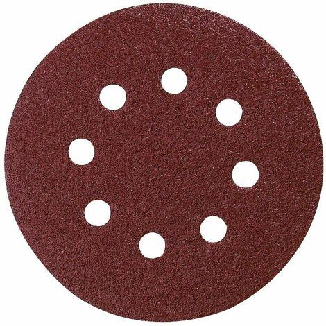 Makita Disque abrasif Velcro 125mm K80, 50 pcs. ( P-43642 ) pour DBO BO DCW DWE GEX PEX SXE BOS