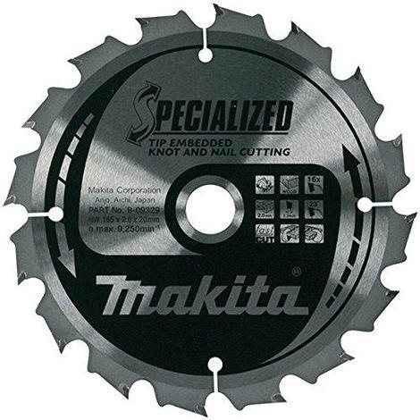 Makita-Disque B-09519 Scie Renforcé 235 Mm X 1,6 2,3 Jante 18 48Z Axe De 30 Degrés
