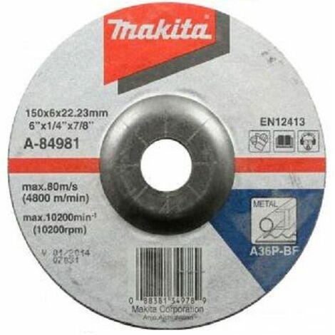 Makita Disques à ébarber pour métal 150mm, 10 pièces - A-84981-10