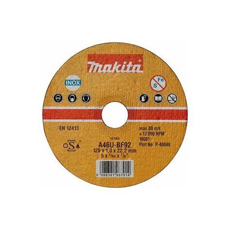Makita Disques à tronçonner métal et inox pour meuleuses 115x1mm - P-40032-10
