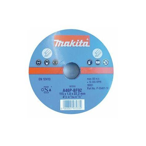 Makita Disques à tronçonner métal pour meuleuses 115x1mm - P-35461-10