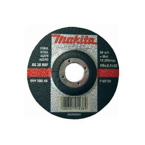 Makita Disques à tronçonner métal pour meuleuses 115x2,5mm - P-05739