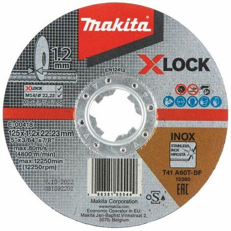 Makita Disques abrasifs à tronçonner INOX 125x1,2x22,23 mm - E-00418