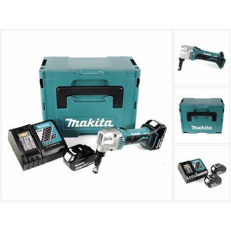 Makita DJN 161 RFJ Roedora a batería 18V en Makpac 2 + 2x Batería BL1830 3,0 Ah + Cargador DC 18 RC