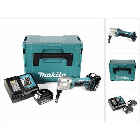 Makita DJN 161 RMJ Roedora a batería 18V en Makpac 2 + 2x Batería BL1840 4,0 Ah + Cargador DC 18 RC