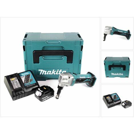 Makita DJN 161 RT1J Roedora a batería 18V en Makpac 2 + 1x Batería BL1850 5,0 Ah + Cargador DC 18 RC