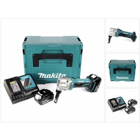Makita DJN 161 RTJ Roedora a batería 18V en Makpac 2 + 2x Batería BL1850 5,0 Ah + Cargador DC 18 RC