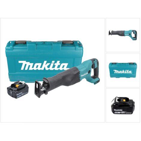 Makita DJR 186 M1K 18 V Li-Ion Scie récipro sans fil avec Boîtier de transport + 1x Batterie BL 1840 4,0 Ah - sans Chargeur