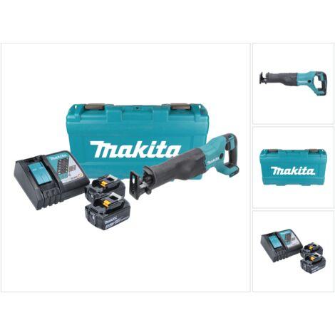 Makita DJR 186 RMK 18 V Li-Ion Scie récipro sans fil avec Boîtier de transport + 2x BL Batteries 1840 4,0 Ah + 1x Chargeur rapide DC 18 RC