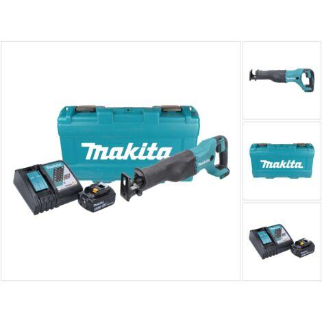 Makita DJR 186 RT1K 18 V Li-Ion Scie récipro sans fil avec Boîtier de transport + 1x BL 1850 5,0 Ah Batterie + DC 18 RC Chargeur Rapide