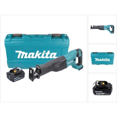 Makita DJR 186 T1K 18 V Li-Ion Scie récipro sans fil avec Boîtier de transport + 1x Batterie BL 1850 5,0 Ah, sans Chargeur