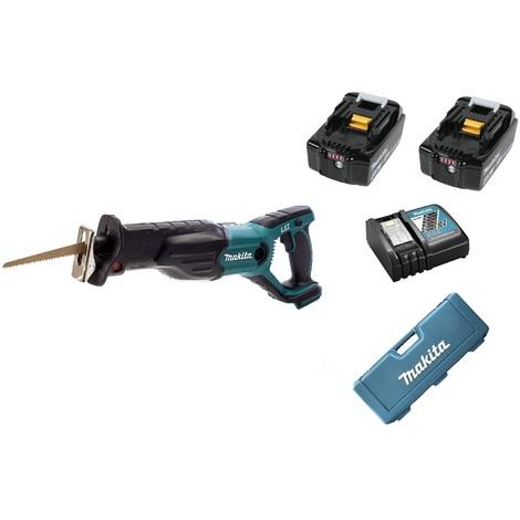 Makita DJR181RME 18V Litio-Ion batería Juego de Sierra de sable(2 baterías 4.0Ah) en maletín - cambio rápido