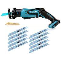 Makita DJR183 18V Li-ion Mini Reciprocating Saw With Bosch Saw Blade Pack of 2